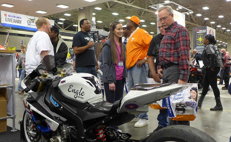 McKinnon Motorsports talking with fans