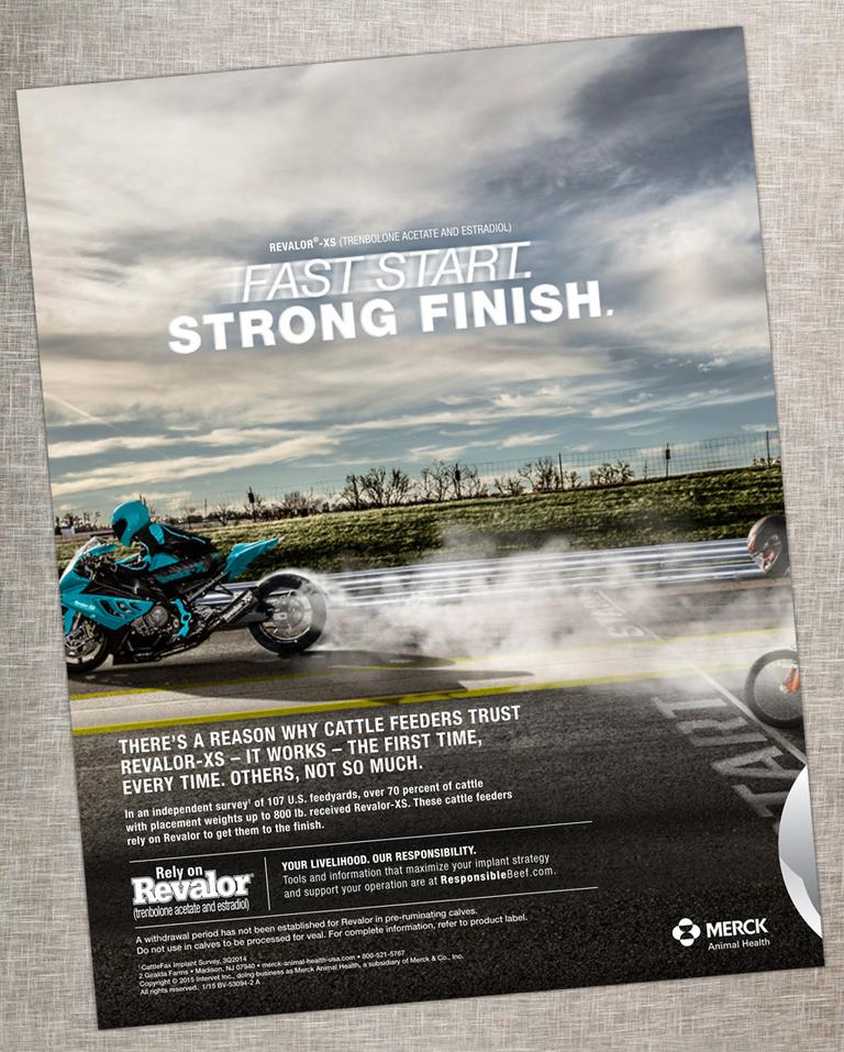 drag racing advertisement